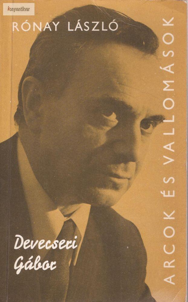 Rónay László: Devecseri Gábor
