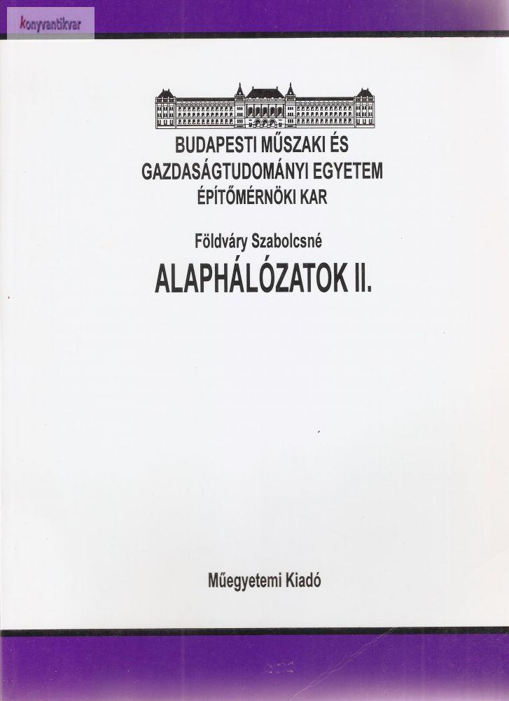 Földváry Szabolcsné: Alaphálózatok II.