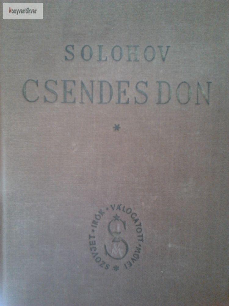 Solohov: Csendes don 1. 2.