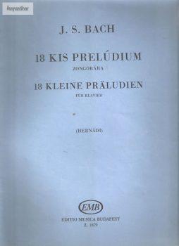 J.S.Bach: 18 kis prelúdium zongorára