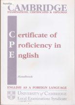 Cambridge CPE handbook