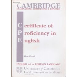 Cambridge CPE handbook