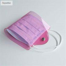 Táska alakú maszktok rózsaszín