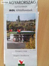 Magyarország autóstérkép MOL töltőállomások