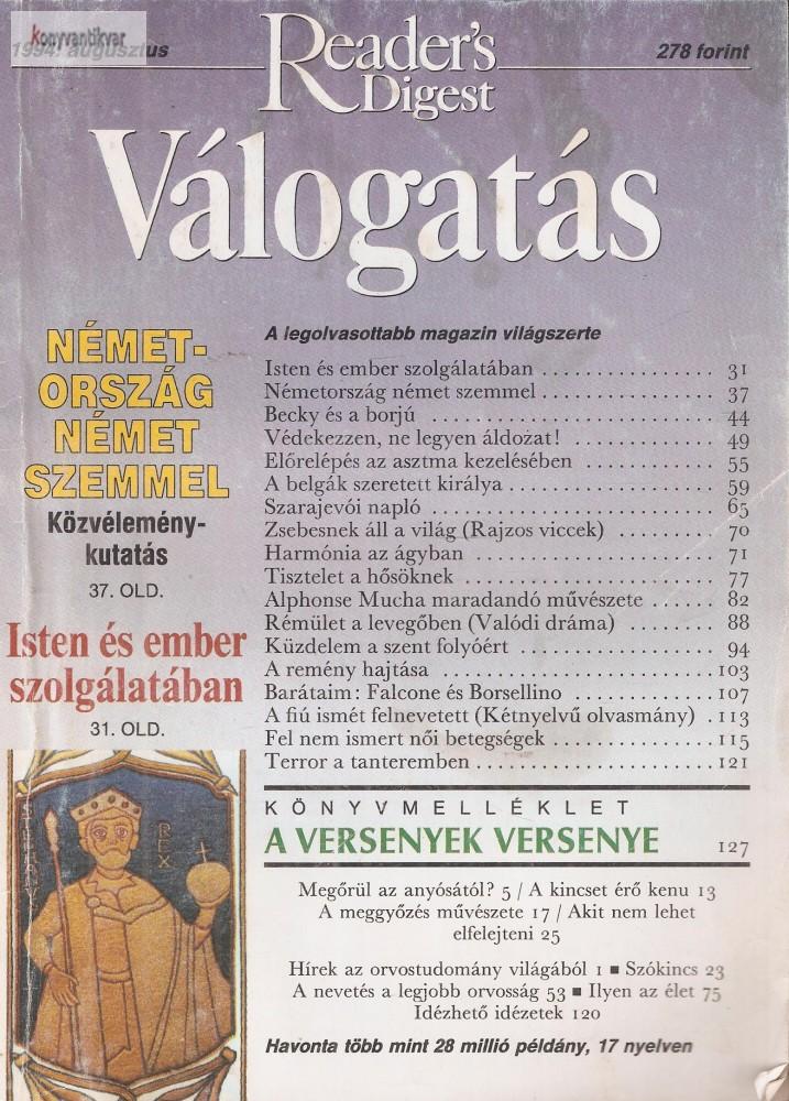 Reader's Digest Válogatás 1994. augusztus