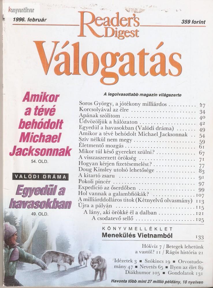 Reader's Digest Válogatás 1996. február