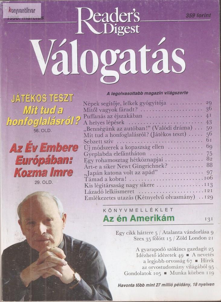 Reader's Digest Válogatás 1996. március